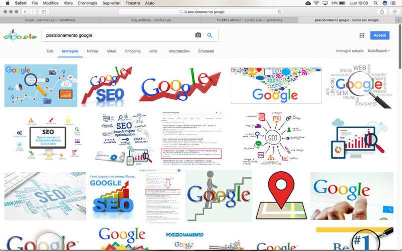 Posizionare un sito internet su Google con le immagini